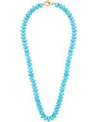 Irene Neuwirth Candy ターコイズ 18kゴールドネックレス - ブルー