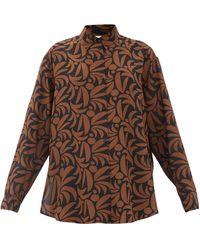 Matteau - Palm-print Silk Shirt - Lyst