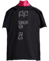 Raf Simons Clubbers プリント Tシャツスタイルスカーフ - ブラック