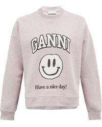 Ganni - スマイリー スウェットシャツ - Lyst