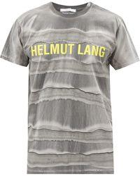 Helmut Lang - メガ マーブルダイ コットンtシャツ - Lyst