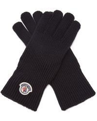 Moncler - Ribbed-knit Virgin Wool Gloves - Lyst