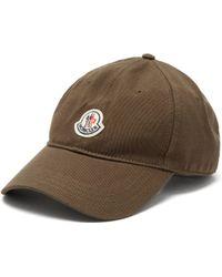 Moncler Logo Patch Cotton Cap - Multicolour