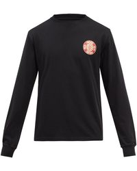 Nicholas Daley T-shirt manches longues en jersey de coton - Noir