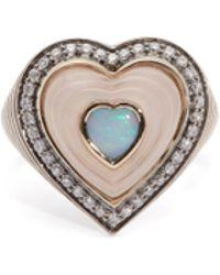 Noor Fares - Merkaba Diamond & Rose-gold Earring - Lyst