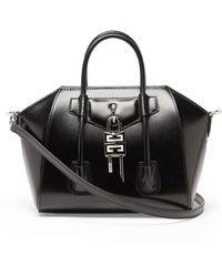 Givenchy Antigona Lock Mini Leather Bag - Black