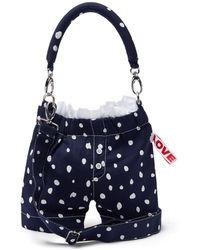 CHARLES JEFFREY LOVERBOY Panties Polka-dot Wool Cross-body Bag - Blue
