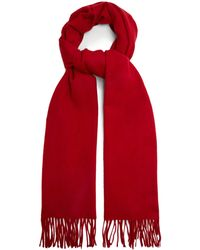 Raey Fringed Wool-blend Scarf - Red