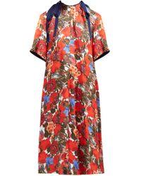 Marni - Duncraig Floral Print Cotton Midi Dress - Lyst