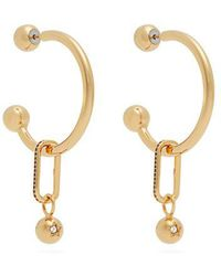 Burberry - Hoop And Crystal-embellished Pendant Earrings - Lyst