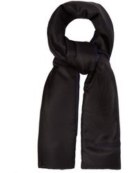 Burberry Two Tone Padded Silk Scarf - Black