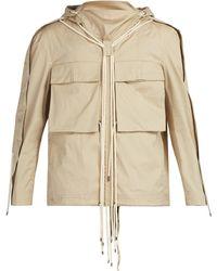 Craig Green - Drawstring Hooded Cotton Shirt - Lyst