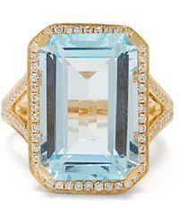 SHAY - ポートレート ダイヤモンド&クリスタル 18kゴールドリング - Lyst