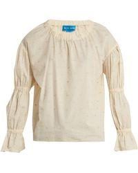M.i.h Jeans - Bubble Fil Coupé Cotton-blend Top - Lyst