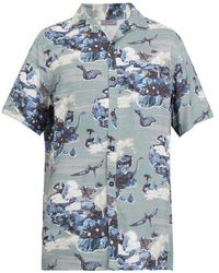 Lanvin - Dinosaur-print Bowling Shirt - Lyst