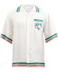 CASABLANCA ロゴ シルクシャツ - マルチカラー