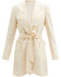 Blazé Milano Whisper Sunshine Paisley-jacquard Silk Jacket - Natural