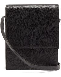Lemaire Grained-leather Cross-body Bag - Black