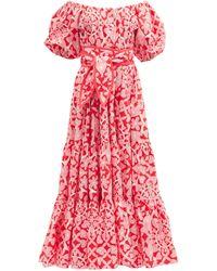 Hester Bly Laaka Ema Floral-print Cotton-poplin Maxi Dress - Multicolour