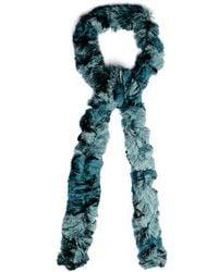 Missoni - Skinny Fine-knit Bi-colour Scarf - Lyst
