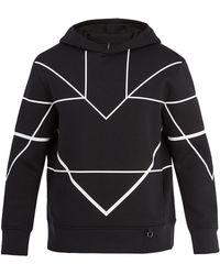Neil Barrett - Sweat-shirt à capuche et motif géométrique - Lyst