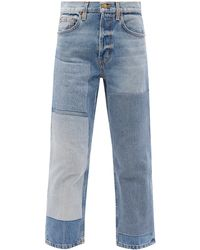 B Sides Marcel Upcycled Patchwork Straight-leg Jeans - Blue
