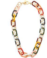 Valentino モノグラム ネックレス - マルチカラー