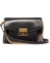 Givenchy Gv3 Small Suede And Leather Cross-body Bag - Multicolour