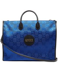 Gucci Off The Grid Gg-jacquard Canvas Tote Bag - Blue