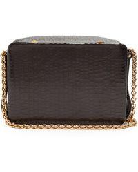 Lutz Morris Morrow Small Crocodile-effect Leather Bag - Black
