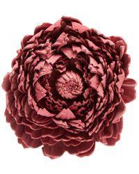 Loewe | X William Morris Ancient Rose Leather Brooch | Lyst