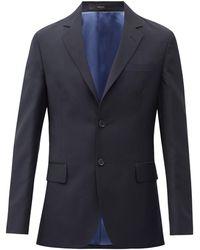 Paul Smith ウールモヘア シングルジャケット - ブルー