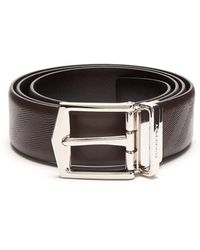Burberry - Embossed Reversible Leather Belt - Lyst