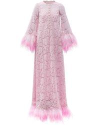 Dolce & Gabbana - フェザートリム レースドレス - Lyst