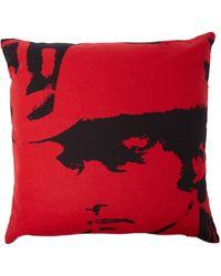 Calvin Klein X Andy Warhol Dennis Hopper Wool-blend Cushion Red