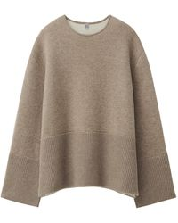 Totême Double-sided Cashmere Sweater - Natural