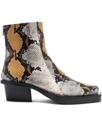 1017 ALYX 9SM Leone Snake-print Square-toe Leather Chelsea Boots - Brown