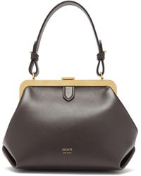 Khaite Agnes Small Leather Top-handle Bag - Brown