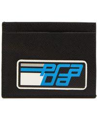 Prada - Saffiano Cardholder With Logo Patch - Lyst