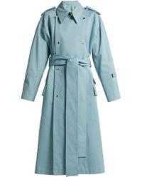Acne Studios - Trench-coat en coton à double boutonnage - Lyst