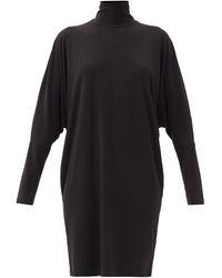 Norma Kamali タートルネック ジャージードレス - ブラック