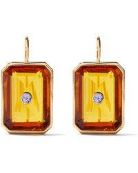 Lizzie Fortunato Boucles d'oreilles en plaqué or et tanzanite - Multicolore