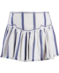 Étoile Isabel Marant - Striped Mini Skirt - Lyst