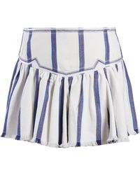 Étoile Isabel Marant - Delia Gathered Striped Skirt - Lyst