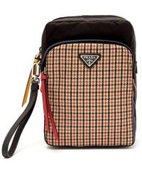 Prada - Tweed Detailed Nylon Camera Bag - Lyst