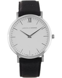Larsson & Jennings - Lugano Stainless-steel And Leather Watch - Lyst