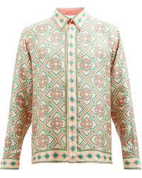 CASABLANCA モザイクプリント シルクツイルシャツ - マルチカラー