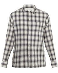 Officine Generale - Js Checked Cotton-blend Shirt - Lyst