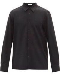 The Row ベト ウールツイルシャツ - ブラック