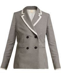 Sara Battaglia - Hound's Tooth Double Breasted Jacket - Lyst
